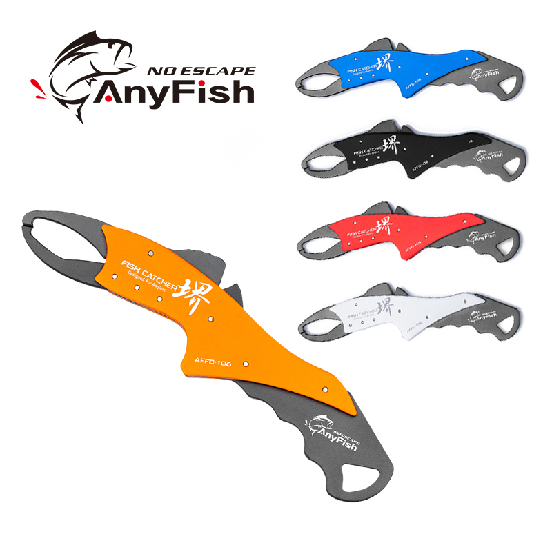 ANYFISH FISH CATCHER 105/106 Fishing Grips Fish Lip Grip Fishing Grabber Controller With Retention Rope Tool Tackle