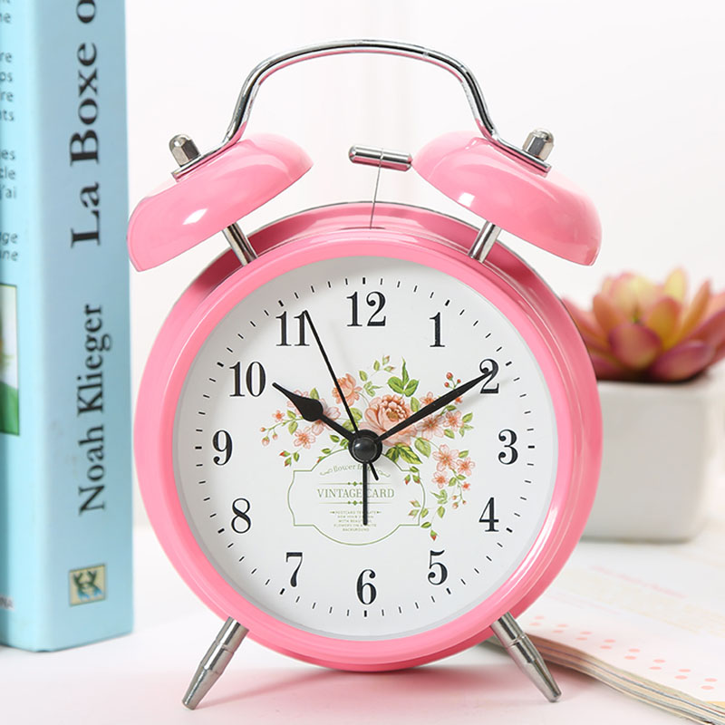Digital Metal Alarm Clock with Backlight Candy Timer Display Watch Table Snooze Function Double Alarm Electronic Alarm Clock