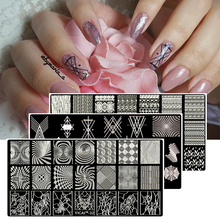 MAFANAILS Christmas Nail Stamping Template Geometry&Lace Flower 40Pattern Stamp Polish Image 6.5*12.5cm Plate