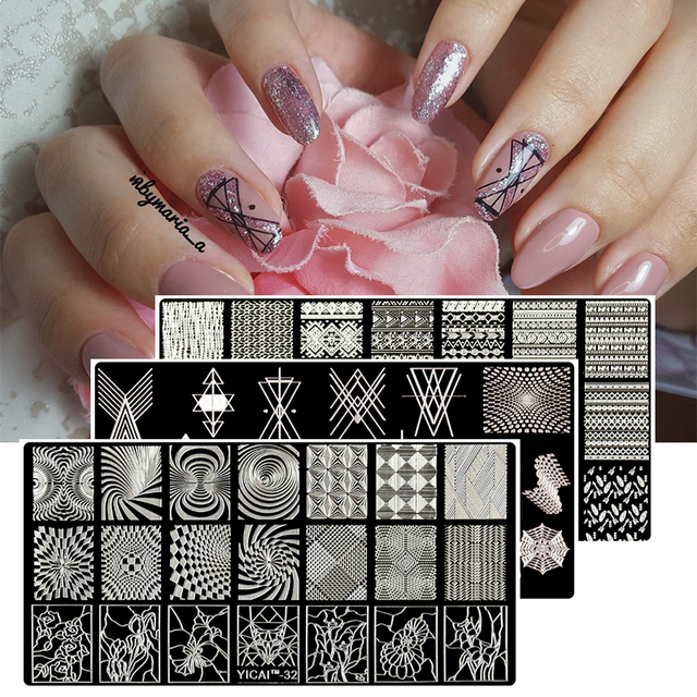 MAFANAILS Kerst Nail Stempelen Template Geometrie & Lace Bloem 40 Patroon Nail Stempel Polish Afbeelding 6.5*12.5 cm Nail stempelen Plaat