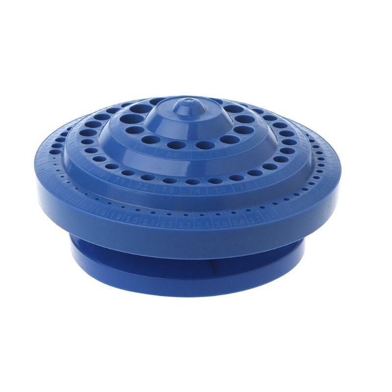 Drill Bit Storage Case Stand Round Shape Hard Plastic Organizer 100Pcs Hole Tool