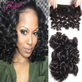 8A Mink Brazilian Kinky Curly Virgin Hair 3 Bundle Deals Loose Wave Curly Human Hair Aunty Funmi Bouncy Curls Spiral Curl Weave