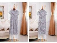 2018 вьетнам стиль аозай платье топ платье + кружевные штаны/набор для женщин