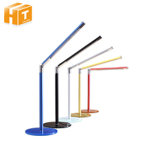 Eye Protection LED Desk Lamp 24 LEDs Simplicity Metal Pipe Glass Base Table Lamps Office Students Reading Book Light