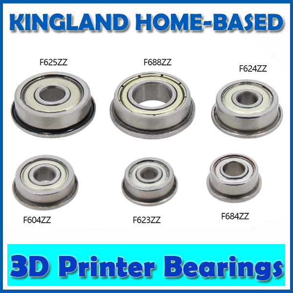 10 Pcs F688ZZ 8X16X5 Flanged Flange Deep Groove Ball Bearings For UM2 Ultimaker 2 F623ZZ F684ZZ F604ZZ F624ZZ F625ZZ 10pcs f688 2z f688zz flange deep groove ball bearings 8 16 5mm for 3d printer reserved for motor