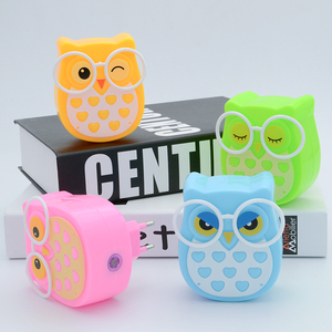 Image 2 - Mini Owl Baby lampka nocna automatyczny czujnik lampka kontrolna ue wtyczka amerykańska dziecko dzieci pokój dziecięcy lampa Led gniazdo zwierzęce veilleuse