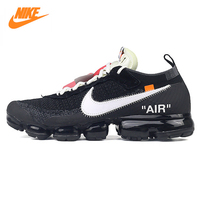 Nike X OFF WHITE AIR VAPORMAX OFW Men S Running Shoes Sneakers Black And White Color