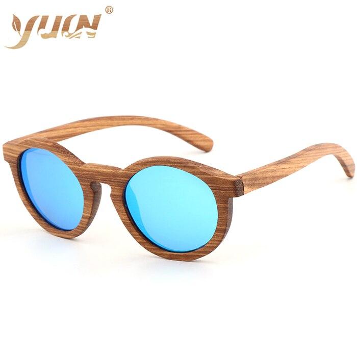 Маленькие круглые солнцезащитные очки для женщин, фирменный дизайн, Зебра, дерево, поляризационные солнцезащитные очки для женщин и мужчин, W5635