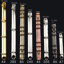 A4 B5 A5 A6 красочные металлический винтовой зажим для бумаги с отрывными листами Нержавеющая сталь папка с файлом дневник зажимы зажимное кольцо железо золотого цвета