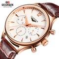 GUANQIN Новый мужские часы мужчины Водонепроницаемый Кварцевые Часы мужчины Бизнес Наручные Часы relogio masculino