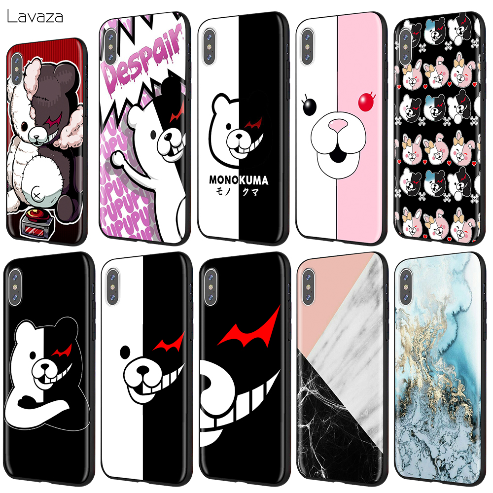 Lavaza Cute Kumamon <font><b>Danganronpa</b></font> Monokuma Case for iPhone 11 Pro XS Max XR X 8 7 6 6S Plus 5 5s se image