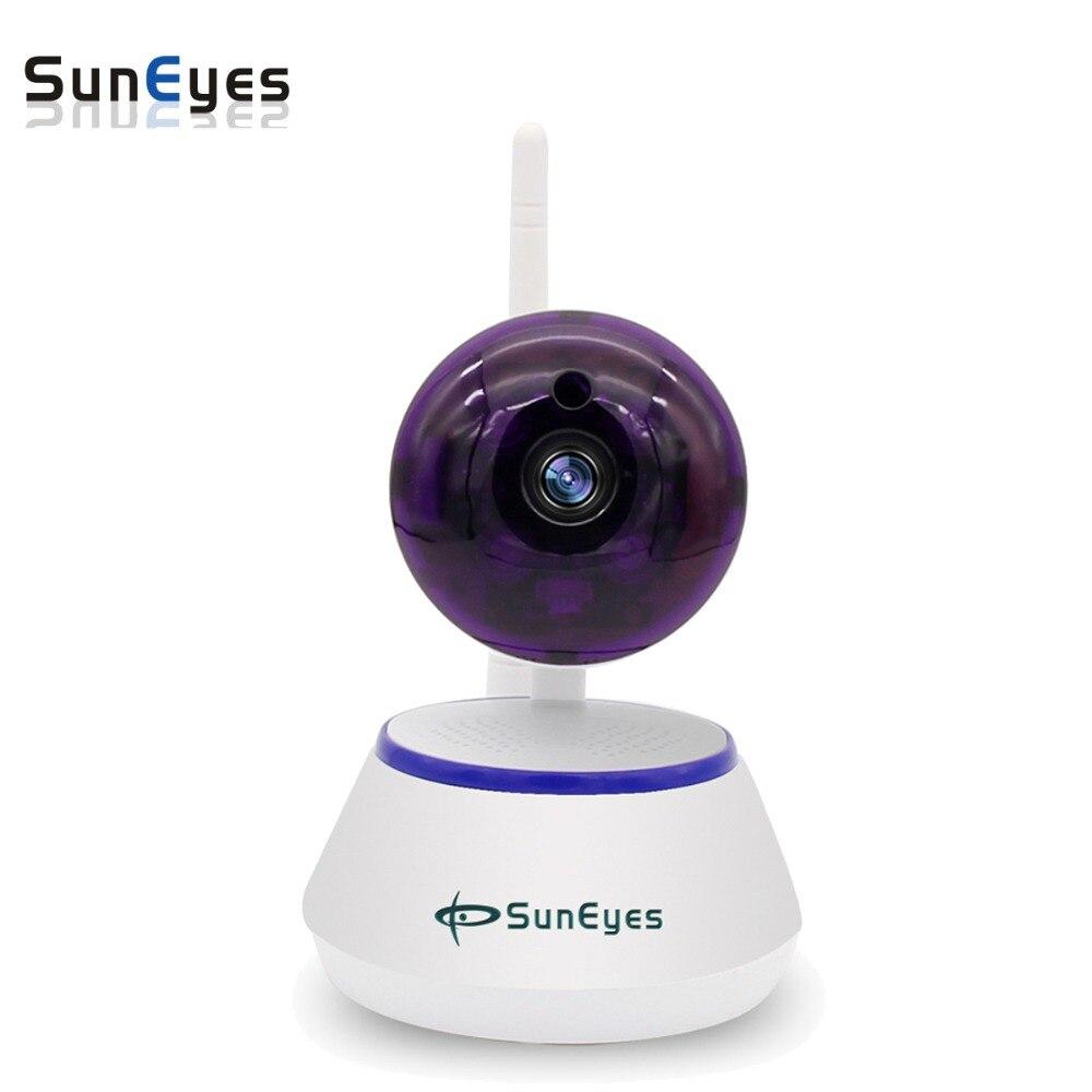 SunEyes SP-S701W 720P HD Mini P2P IP Camera Wireless Wifi Pan/Tilt Two Way Audio Video Push Alarm with Motion Detection Free APP hd 1mp wireless ip camera with alarm function free video call