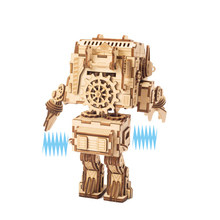 DIY Twisting Ass Robot Model 3D Wooden Miniature Figurines Navelty Gag Toys Gift for Children Adults DZU02(China)