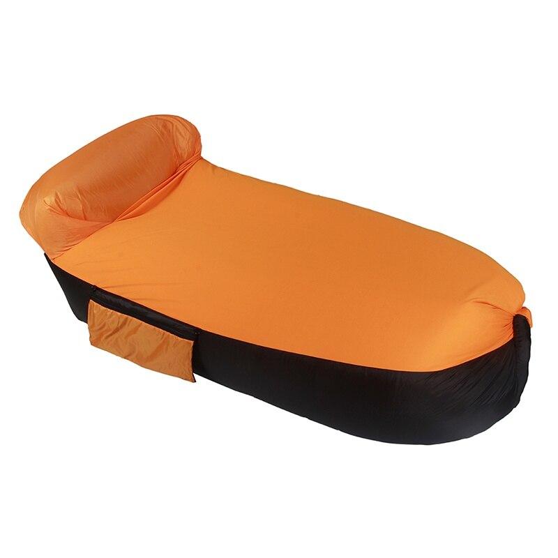 цена на Outdoor Inflatable Lazy Bag Air Sleeping Bag Portable Camping Air Sofa Beach Bed Air Hammock Terylene Sofa Hot