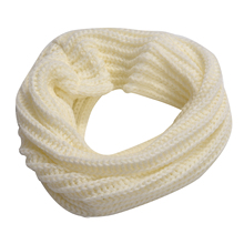 Warm Womens Winter White knitted Circle Crochet Snood Neck Loop Scarf Shawl