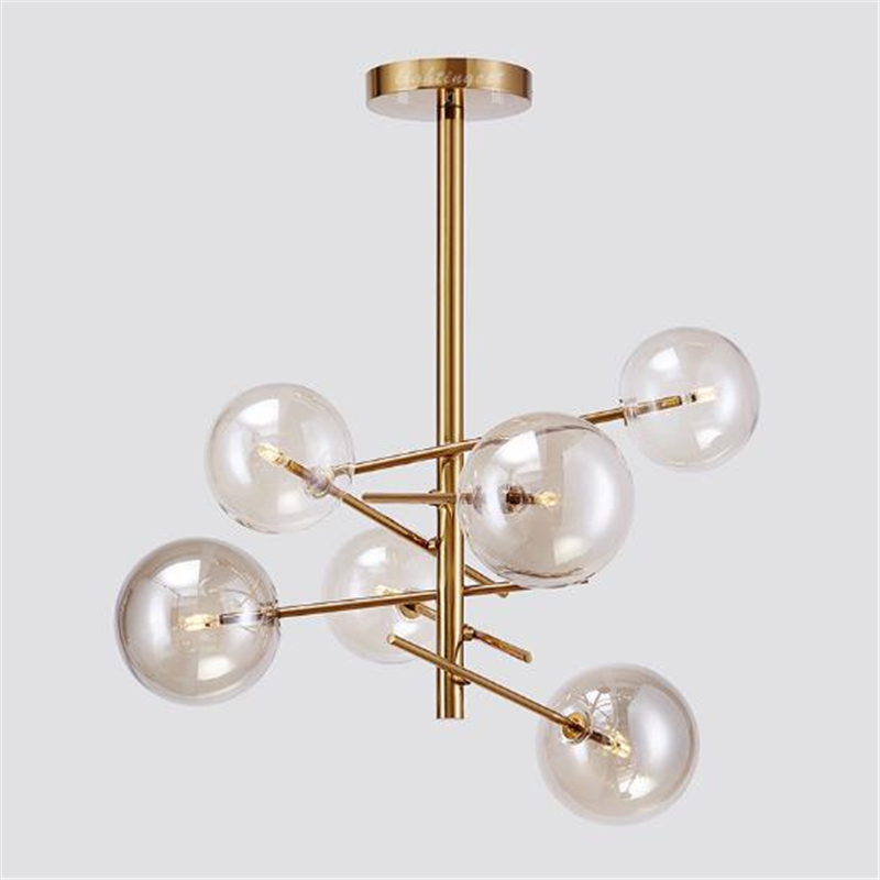 Nordic Post - Modern Minimalist American Creative Living Room Chandelier Dining Room Glass Ball Light Led NDA Light led ledchandelier post modern minimalist living room nordic creative bedroom dining room lights abaju