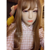 Luxury Custom Spring Gilr Makeup With DMS Mask Rose! Silicone Sexy Female Crossdress Half Face Mask Corssdresser Doll With Wig