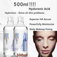 Coréen 500ML acide hyaluronique Ampoule bouteille Essence liquide supérieur HA sérum (puissamment hydrater la peau) maquillage quotidien fixation