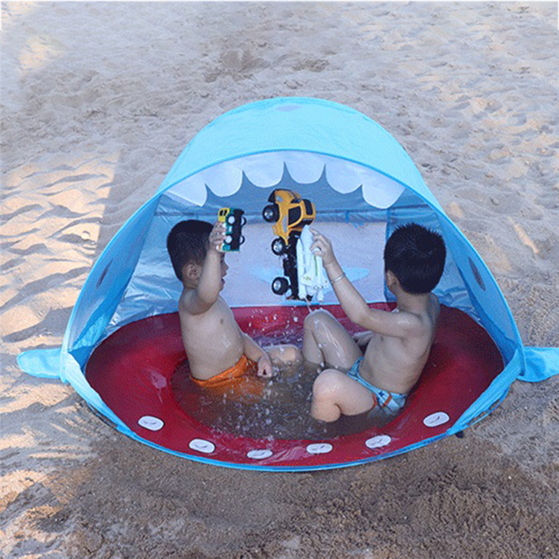 Children Waterproof Pop Up Awning Tent Baby Beach Tent UV-protecting Sunshelter with Pool Kids Outdoor Camping Sunshade BeachChildren Waterproof Pop Up Awning Tent Baby Beach Tent UV-protecting Sunshelter with Pool Kids Outdoor Camping Sunshade Beach