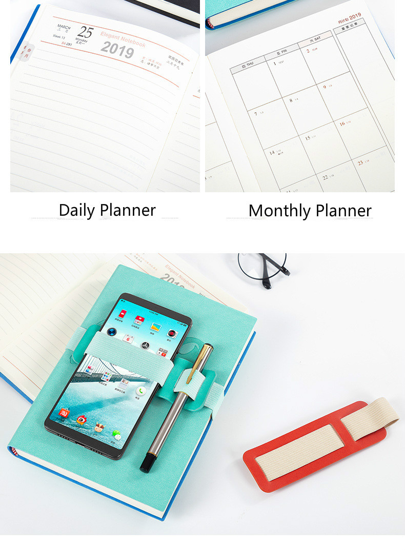 a5 school office planner 2019 daily monthly planner notebook soft