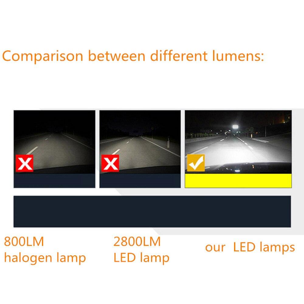 LED Avtomobil fənərləri 8000K 36W 12V H11 Avtomobil başlığı - Avtomobil işıqları - Fotoqrafiya 6