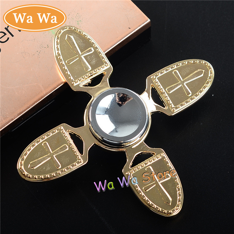 Funny Toy Fidget Spinner Metal Alloy EDC Hand Spinner for Autism and ADHD Birthday Gift Four