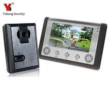 Yobang Security 7 Inch LCD Display Wired Video Door Phone Night Version Intercom System,video doorbell door intercom