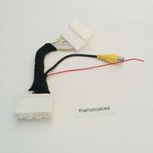 Thehotcakes видео вход переключатель RCA разъем адаптера провода кабель для Toyota Yaris/Scion iA 2013~ камера заднего вида