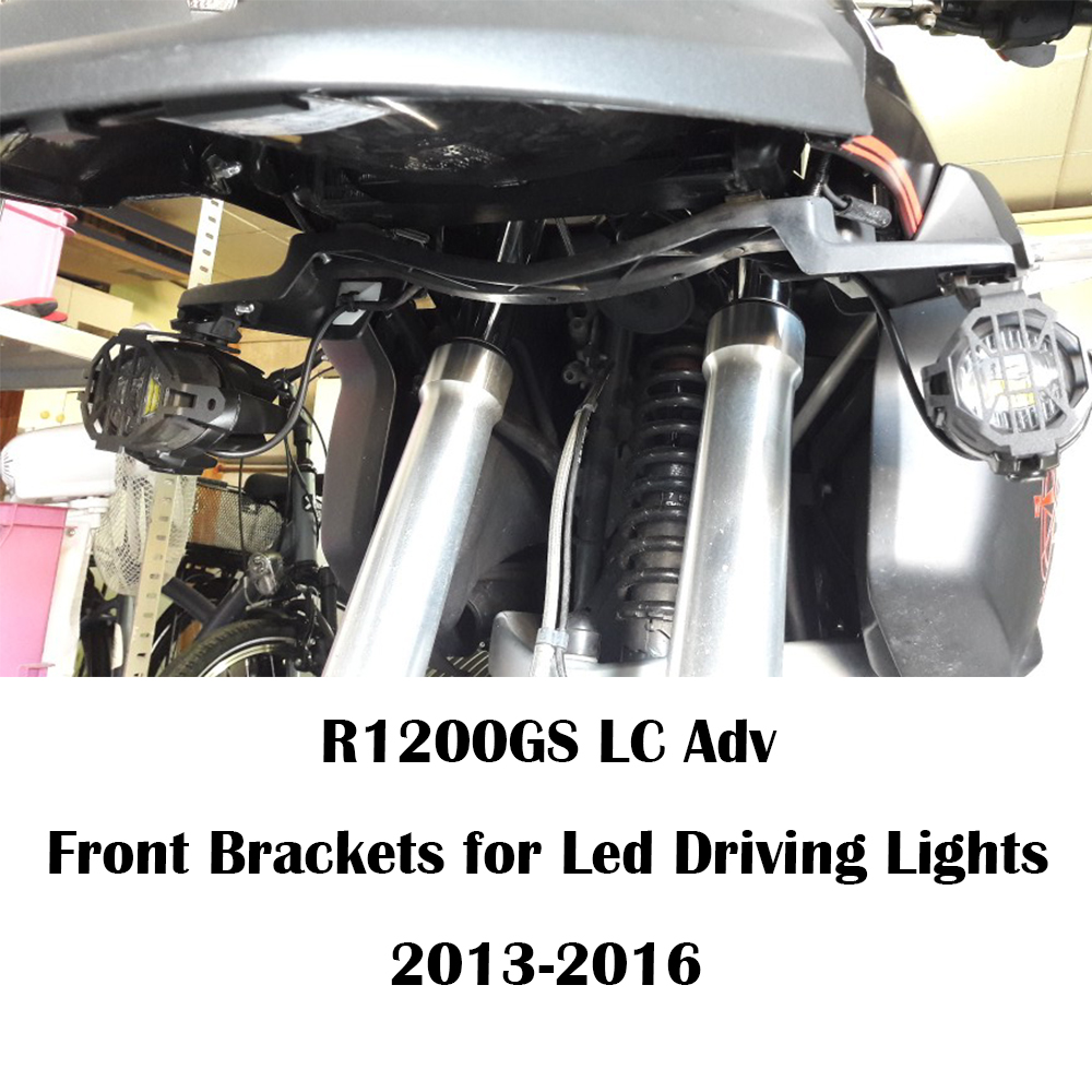 KEMiMOTO For BMW R1200GS Adv LC Front Brackets for Led Driving Lights R1200GSA 2013 2016 Motorcycle