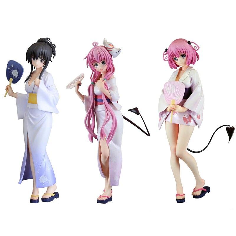 FuRyu To LOVE Ru-Darkness Kotegawa Yui Lala Satalin Deviluke Momo Belia Deviluke Yukata Ver PVC Action Figure Sexry Girl Model
