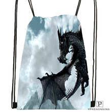 Custom eragon-dragon-Drawstring Backpack Bag for Man Woman Cute Daypack Kids Satchel (Black Back) 31x40cm#20180611-03-155