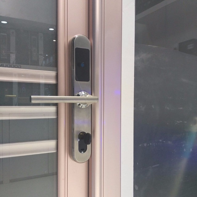 Electronic RFID Card Hotel Door Lock with 3585/4585 Small European style Mortise