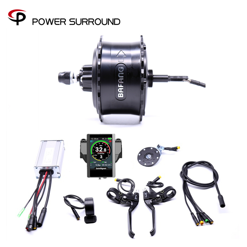 2020 Rushed Color display Waterproof 48v750w Bafang FAT Rear Electric Bike Conversion Kit Brushless Motor Wheel EBike system Electric Bicycle Motor     -
