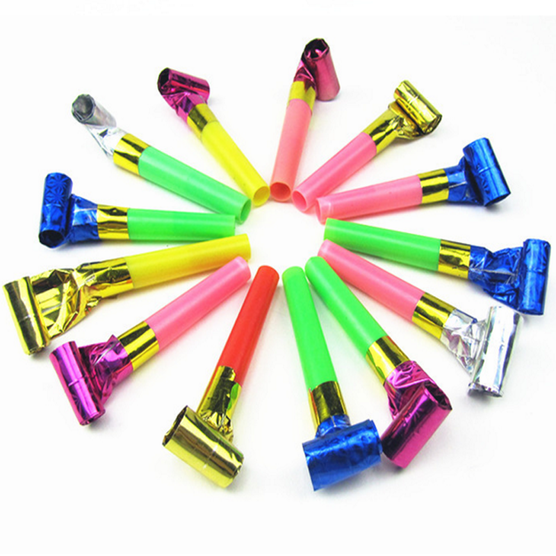 20 Pcs/set Cute Small Multi Color Party Blowouts Whistles Kids Birthday Party Favors Decoration Supplies Noise Maker