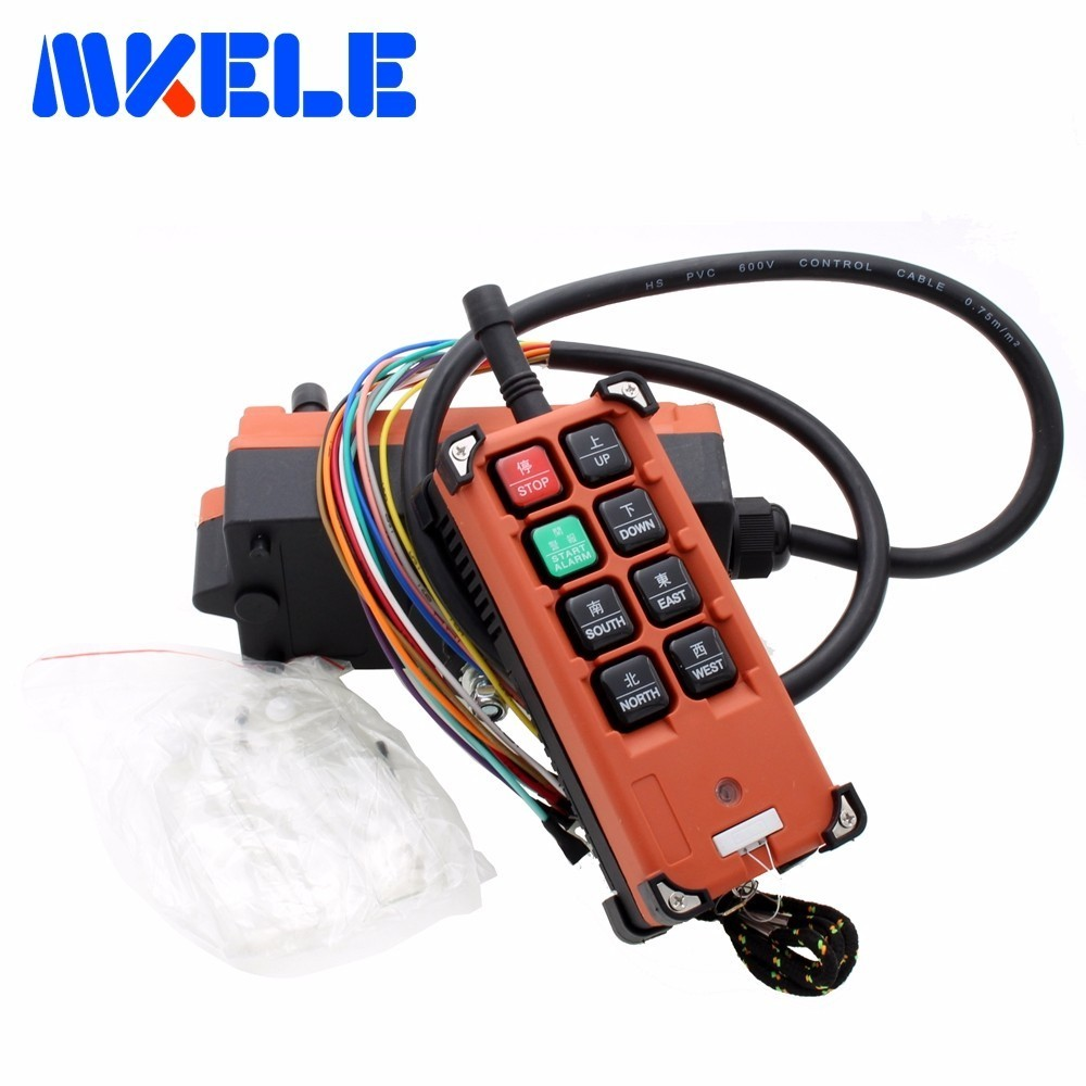 Crane Industrial Remote Control Wireless Transmitter Push Button Switch 1 transmitter 1 receiver AC 220V 380V 110V DC 12V 24V nice uting ce fcc industrial wireless radio double speed f21 4d remote control 1 transmitter 1 receiver for crane