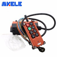 Crane Industrial Remote Control Wireless Transmitter Push Button Switch 1 Transmitter 1 Receiver AC 220V 380V