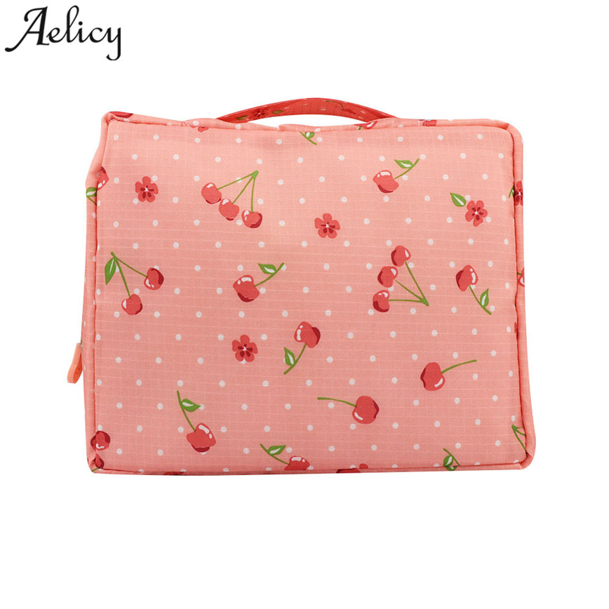 Aelicy Women Makeup bag Cosmetic Case New Travel Wash Make Up Organizer Toiletry Storage Bag profesional cosmetic bags cases S23 ladsoul 2018 women multifunction makeup organizer bag cosmetic bags large travel storage make up wash lm2136 g