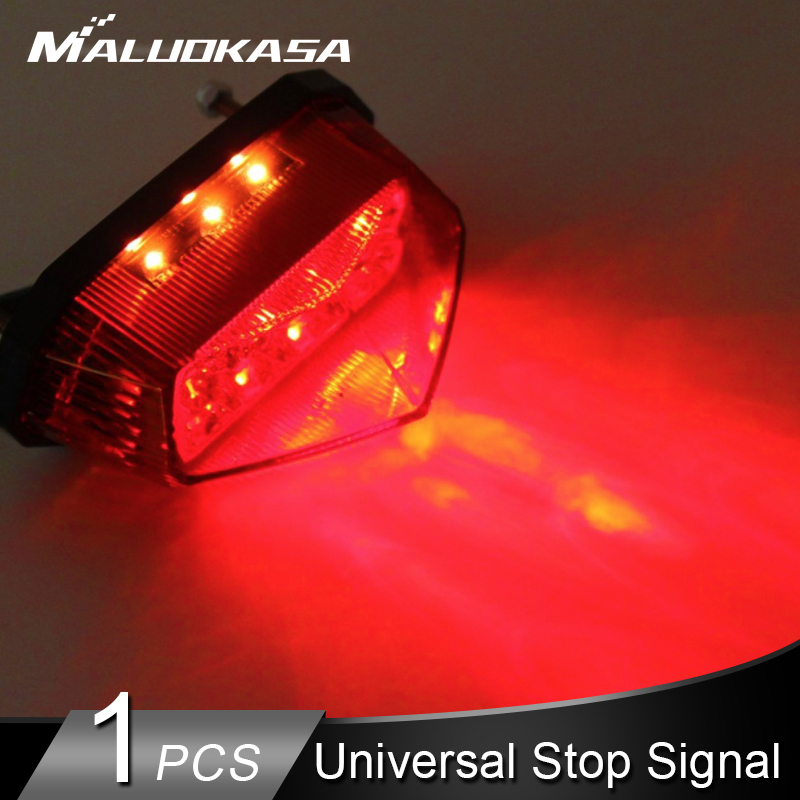 Universal Fit All Motorcycle Tail Light Retro Rear Stop Brake Safety Signal Lamp
