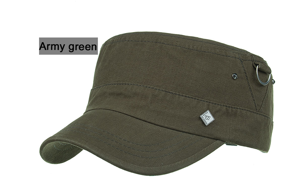 184d448b9ad1c AKIZON New Arrival Spring Unisex Adjustable flat cap Military Hats ...