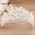 Beautiful Pearl Crystal Butterfly Crown Wedding Hair Ornaments bridal tiara quinceanara headdress