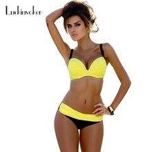 Bikini Push Up S-XXL Swimwear Women Two-Piece Swimsuit Brazilian Bikini Set Swimwear Female Biquini Plavky Maillot De Bain Femme