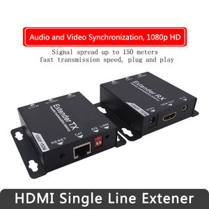 150m HDMI USB Extender RJ45 IP Network KVM Over IP Extender Over Cat5 Cat5e Cat6 synchroniser With Wide IR By UTPSTP