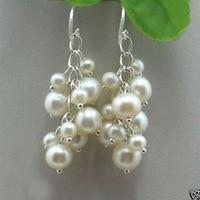 Belle Petit blanc Akoya Perle boucles d'oreilles mot boucle d'oreille ohrring Pendiente gros 1 paire collares kolye marvel ras du cou