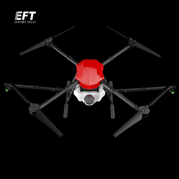 EFT E410 waterproof agricultural spraying drone 1300mm Wheelbase flight platform Folding UAV Quadcopter 10KG 10L