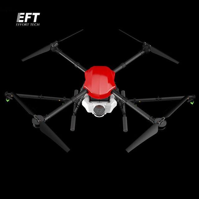 EFT E410 étanche drone de pulvérisation agricole 1300mm empattement plate forme de vol pliant aéronef sans pilote (UAV) quadrirotor 10KG / 10L