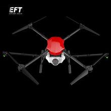 Eft e410 zangão de pulverização agrícola à prova dwheelágua 1300mm wheelbase plataforma de vôo dobrável uav quadcopter 10kg/10l