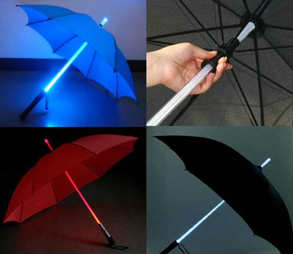 Cool Blade Runner Light Saber Colorful Led Flash Xmasgift Night Protection Umbrella Rain ...