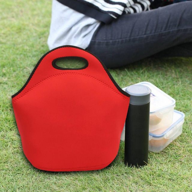 Reusable Neoprene Lunch Tote Insulated Picnic Lunch Handbag Boxes for Adults Kids Toddler B2Cshop