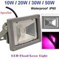 5PCS/LOT LED Flood Grow Light Lamp For Plants Vegs Hydroponics 10W/20W/30W/50W Waterproof IP65 AC85~265V Wholesale/Free Shipping