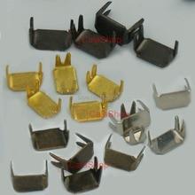 500 шт./лот#3 3 мм прямоугольная молния стопор Топ стоп нижний спасательный ремонтный набор черный никель золото бронза